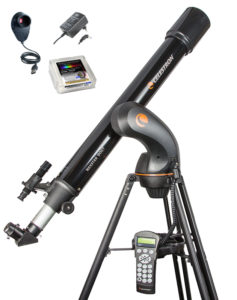 "NexStar 90 GT Mond-Set, inkl. Celestron NexImage Kamera, Baader OD 0,9 ND Filter 1¼"", multicoated, T=12,5% , Baader OTP Outdoor Telescope Power Schaltnetzteil mit Winkelstecker"