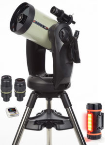 "CPC DeLuxe 800 HD Mond-Set, inkl. Baader Morpheus® Okular 76°, 17,5 mm Baader Morpheus® Okular 76°, 6,5 mm, Celestron PowerTank LiFePo 12V DC / USB 5V / 84Wh, mit Winkelstecker, Baader OD 0,9 ND Filter 1¼"", multicoated, T=12,5%"