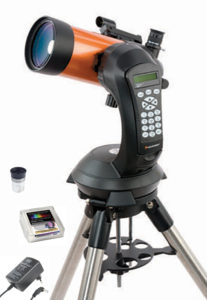 "NexStar 4 SE Mond-Set, inkl. Celestron Omni Okular 1¼"", 12,5mm, 52° Gesichtsfeld, Baader 1¼"" Polarisationsfilter, doppelt, Baader OTP Outdoor Telescope Power Schaltnetzteil mit Winkelstecker"