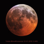 Totale Mondfinsternis aufgenommen mit Celestron C8 (1993) - Hubert Winter