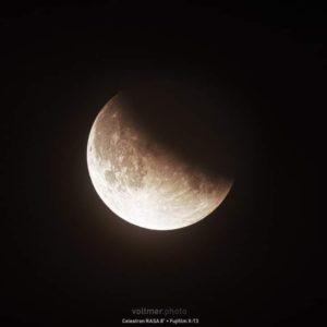 Partielle Mondfinsternis am 16. Juli 2019, RASA 8 mit Futjifilm X-T3, S. Voltmer