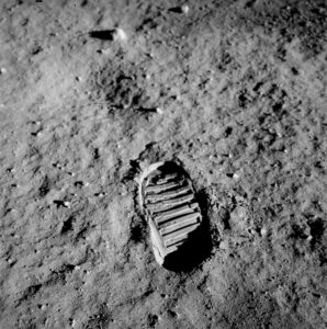 Footprint Apollo 11, @NASA