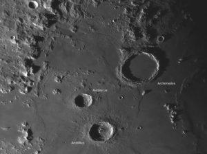 Archimedes, Autolycus und Aristillus, © 2019 by W. Paech+F. Hofmann – Camäleon Observatory, Namibia