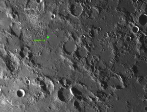 Das Landegebiet von Apollo 16 mit dem geheimnisvollen SWIRL, © 2019 by W. Paech+F. Hofmann – Camäleon Observatory, Namibia