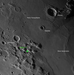 Landegebiet Apollo 17 in der Übersicht, © 2019 by W. Paech+F. Hofmann – Camäleon Observatory, Namibia