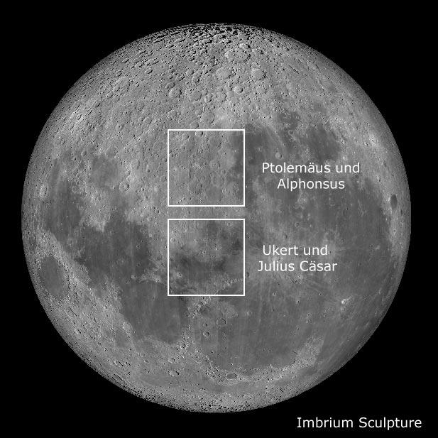 Besonders interessante Mondregionen