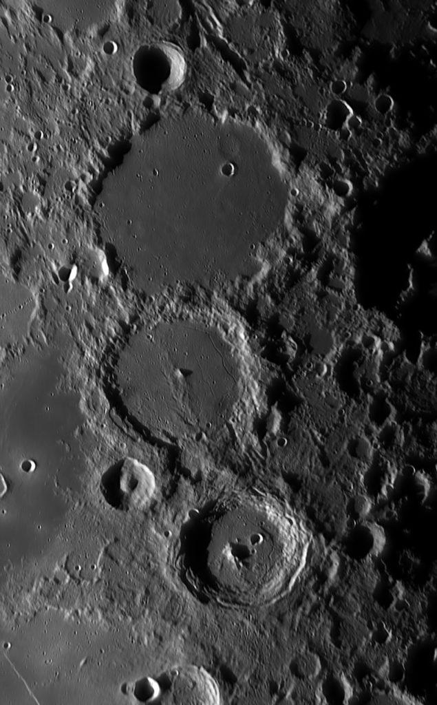 Mond: Ptolemaeus, Alphonsus, Arzachel aufgenommen mit Celestron C14 Edge HD - Daniel Koehn