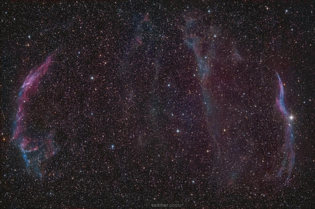 """Cirrus-Nebel-Komplex im Sternbild Schwan aufgenommen mit Celestron RASA 8"""" - Sebastian Voltmer"""