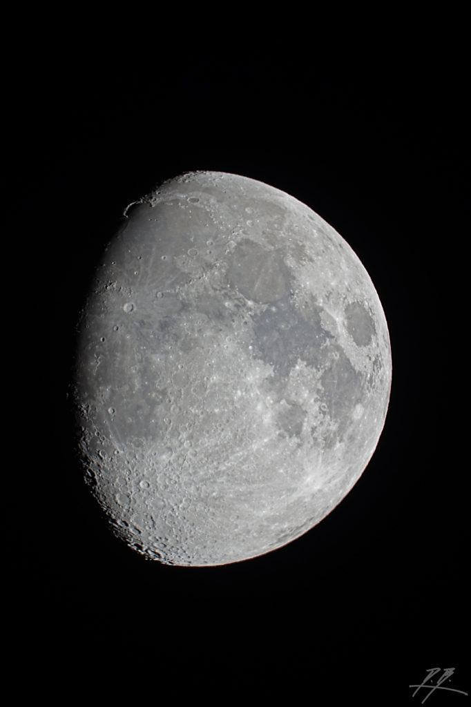 Mond mit Goldenem Henkel aufgenommen mit Celestron C8 - Daniel Bockshecker