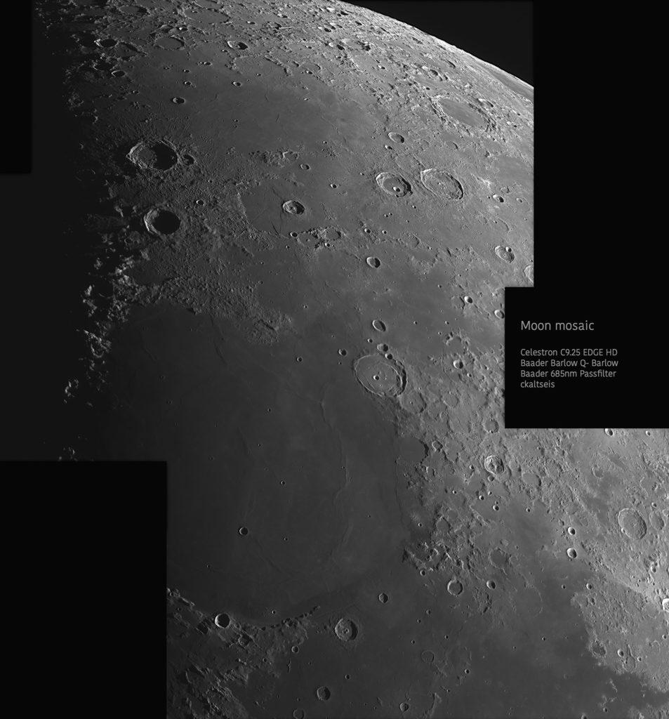 Mondmosaik aufgenommen mit Celestron 9.25 - Christoph Kaltseis