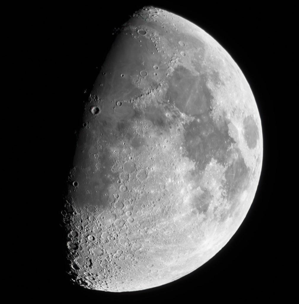 Hochauflösender Mond vom 2. April aufgenommen mit Celestron Nexstar 5SE - Peter Mein