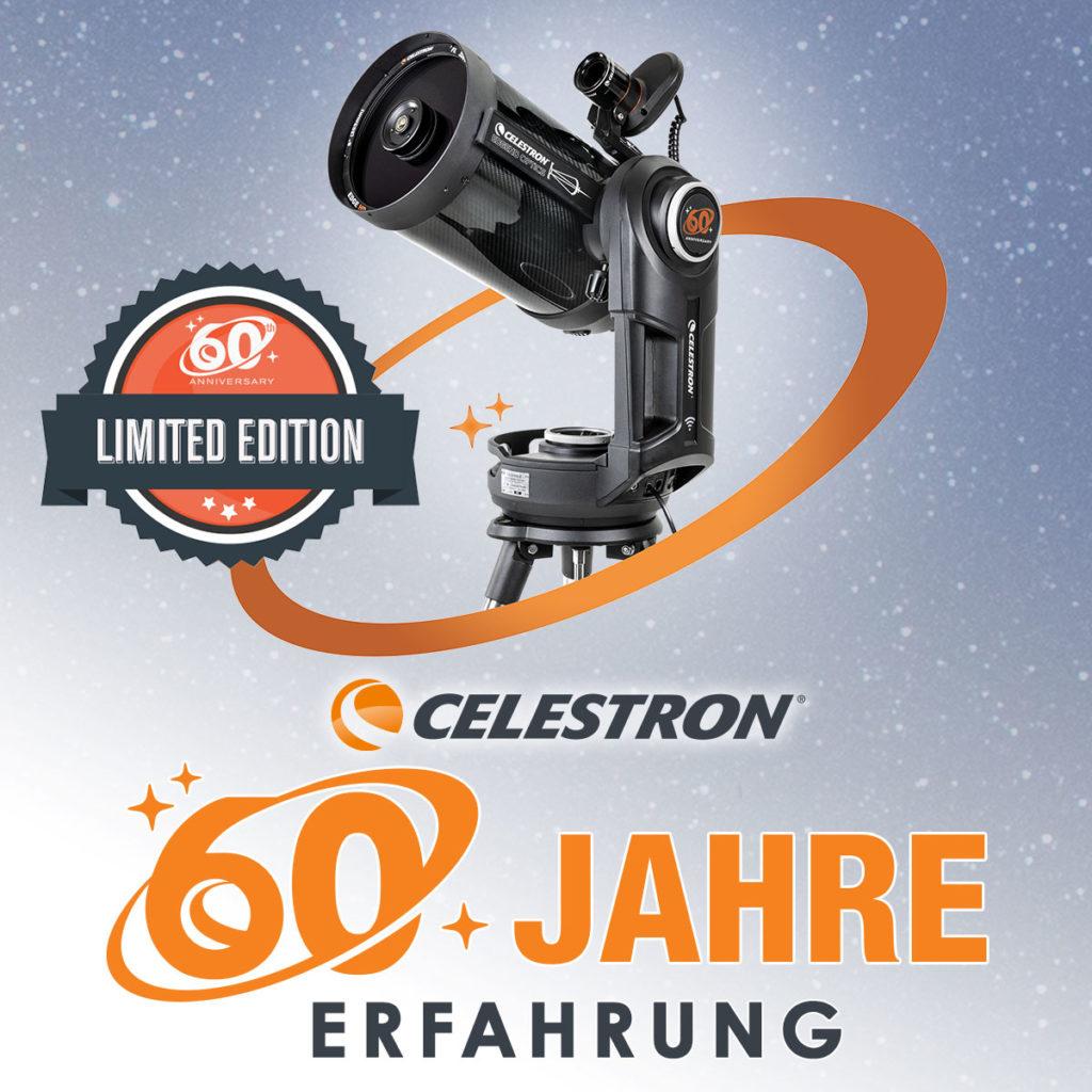 """60 Jahre Celestron: Limitierte Auflage des NexStar Evolution 8"""" EdgeHD-Teleskops"""