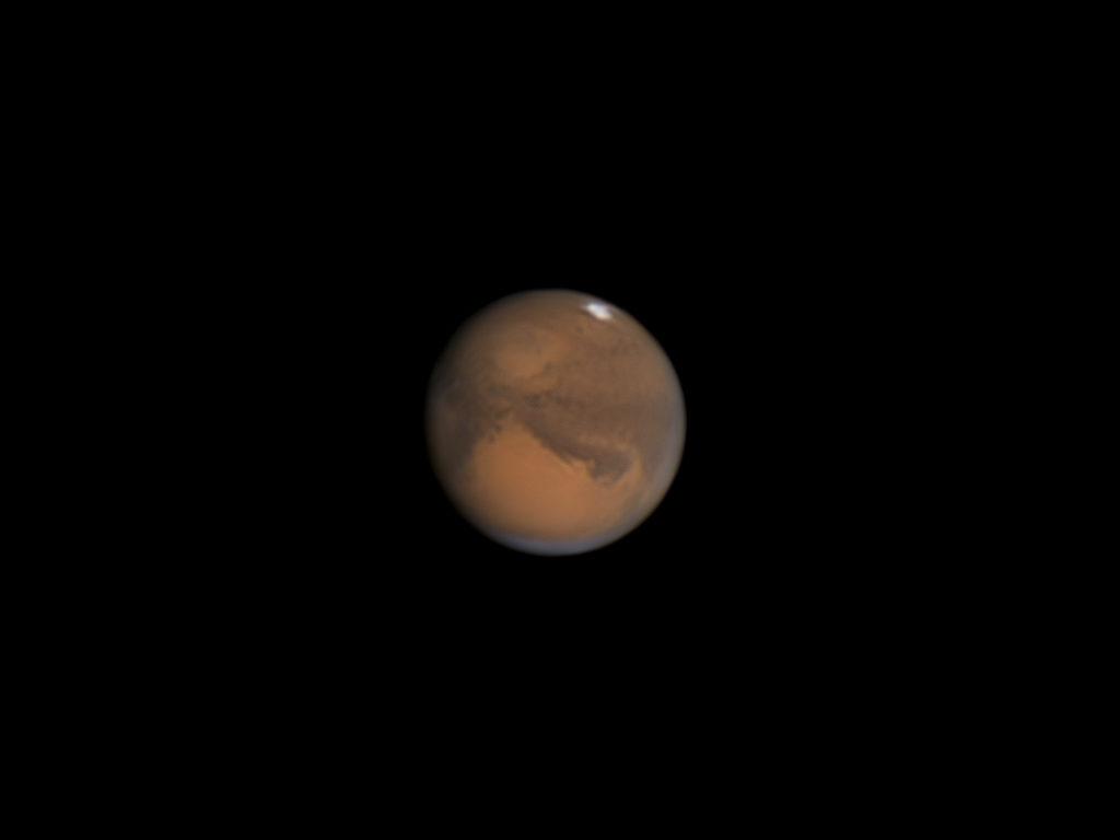 Mars aufgenommen mit Celestron C9.25 - Dr. Michael Schröder