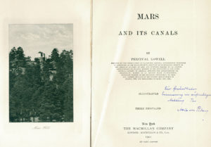 """Mars and its Canals, 3. Auflage 1911. Quelle: W. Paech"