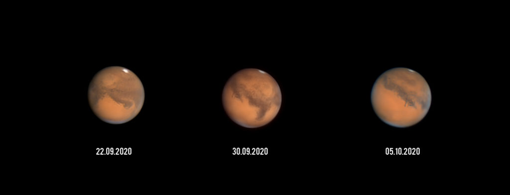 Mars aufgenommen mit Celestron C9.25 - Michael Schröder