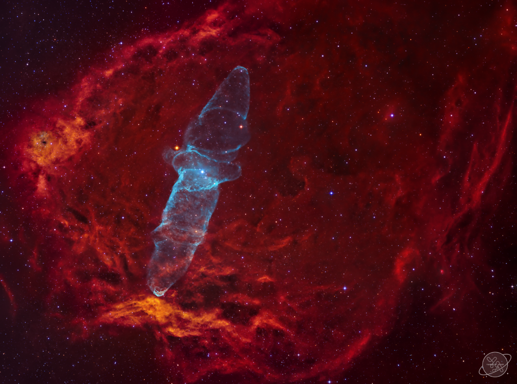 "Sh2-129 & Ou4 - The Flying Bat and Giant Squid Nebula aufgenommen mit Celestron RASA 8"" - Yannick Akar"