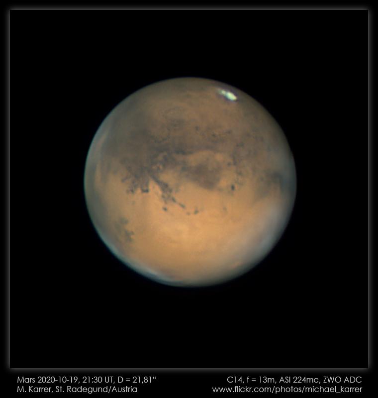 Mars aufgenommen mit Celestron 14 - Michael Karrer