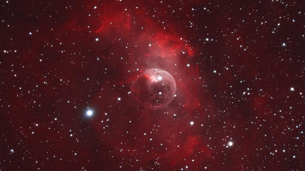 Blasennebel - NGC 7635 aufgenommen mit RASA 36 - Mike Behnke