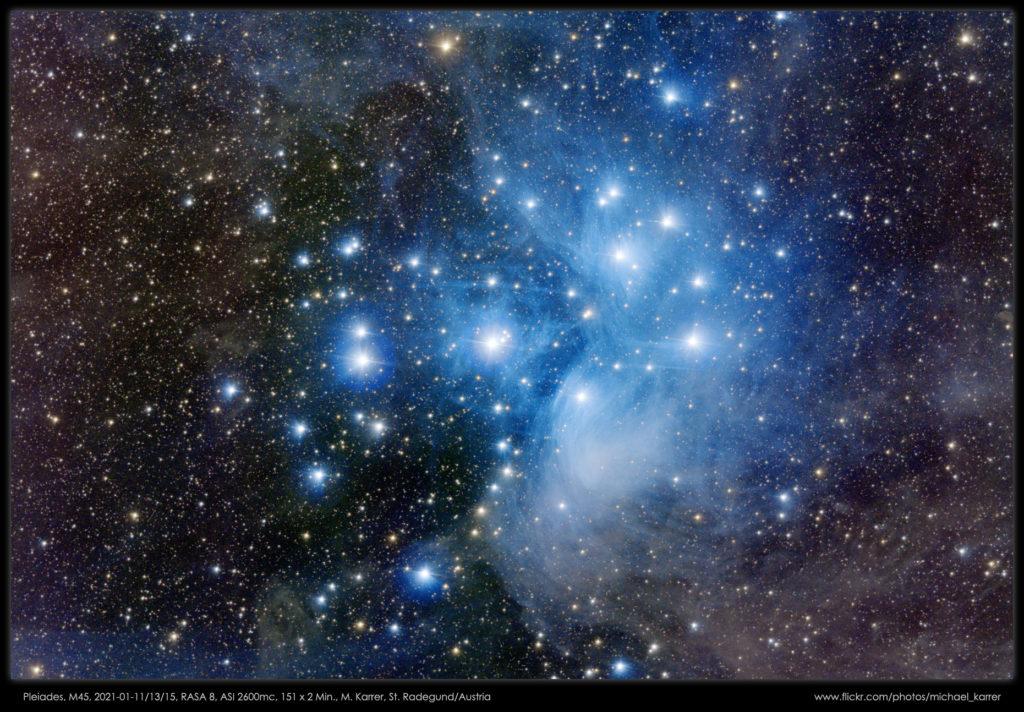 """M45 aufgenommen mit RASA 8"""" - Michael Karrer"""