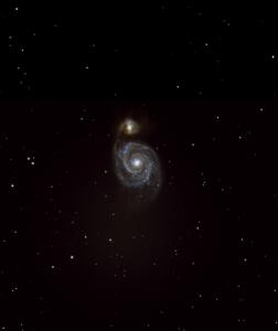 M51 Whirlpool-Galaxie aufgenommen mit Celestron C9.25 - Dieter Fleischer