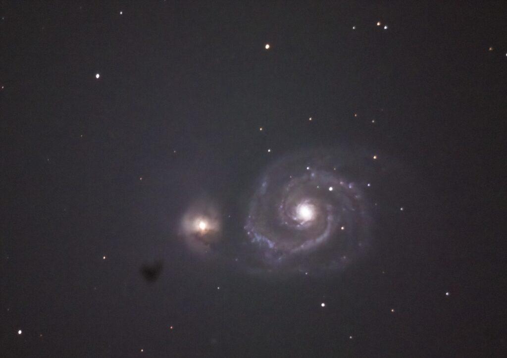 Whirlpool-Galaxie M51 aufgenommen mit Celestron C8 - Peter Mein