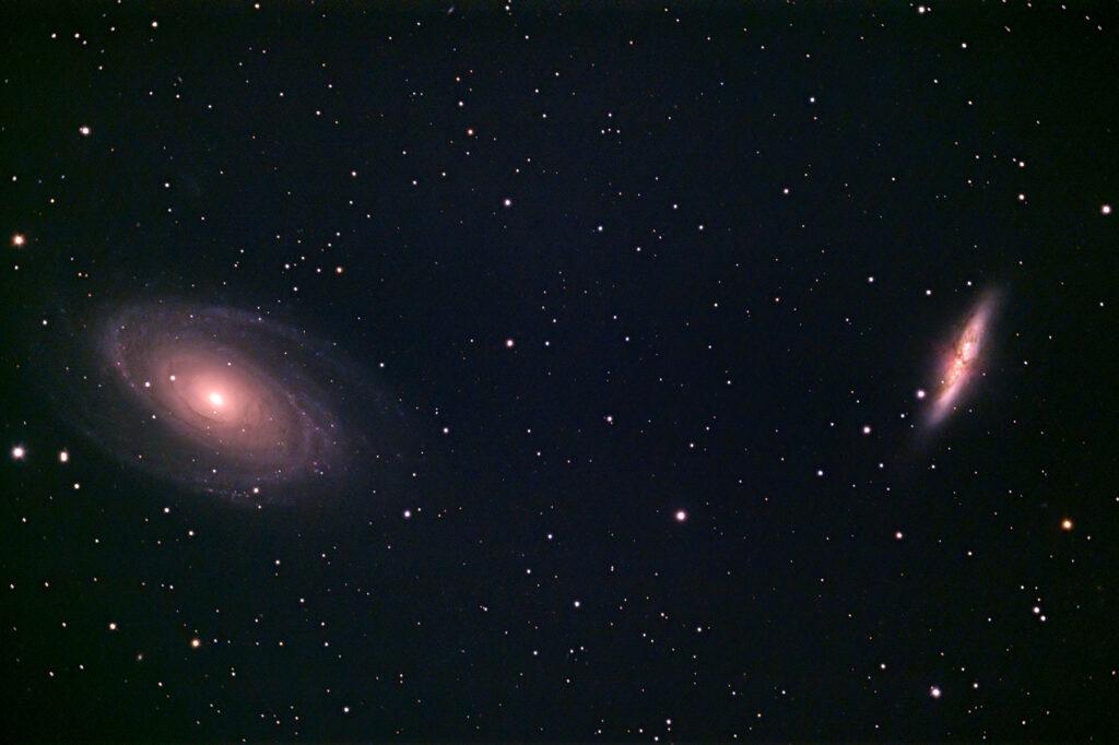 M81 und M82 aufgenommen mit Celestron C8 (1992) - Mark Heßler